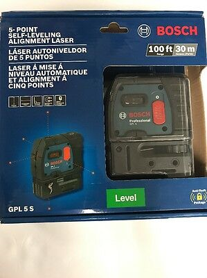 Bosch GPL 5 S 5-Point Self-Leveling Alignment Laser Level - New