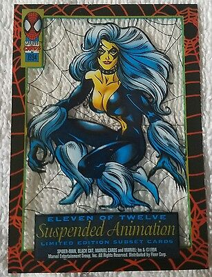 SPIDER-MAN●BLACK CAT●SUSPENDED ANIMATION●c1994●FIRST EDITION●●11 OF 12●MINT●MINT