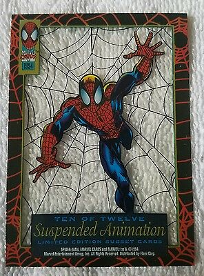 SPIDER-MAN●SUSPENDED ANIMATION●c1994●FIRST EDITION●NEAR MINT CONDITION●●10 OF 12