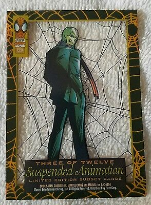 ●SPIDER-MAN●CHAMELEON●SUSPENDED ANIMATION●c1994●FIRST EDITION●3 OF 12●MINT●MINT●