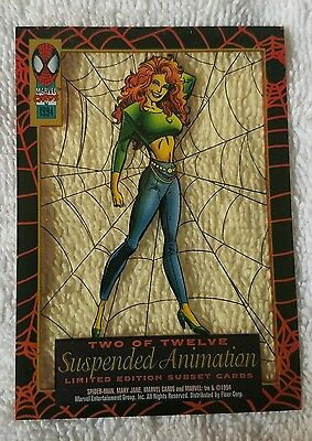 ●SPIDER-MAN●MARY JANE●SUSPENDED ANIMATION●c1994●FIRST EDITION●2 OF 12●MINT●MINT●