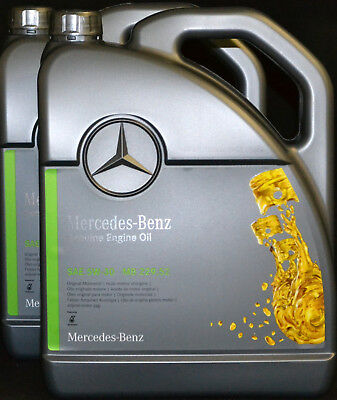 2x5 Liter ORIGINAL MERCEDES BENZ 5W30 MOTORÖL MB 229.52 Synthetic 5W-30