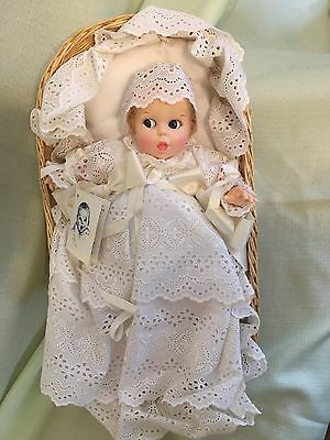 Vintage Limited Edition Gerber Baby Doll in Baptism Gown and Basket