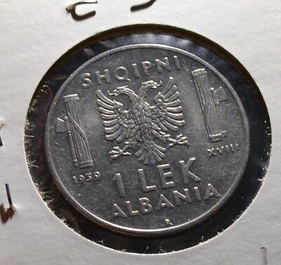 Albania Lek 1939 Great Condition and Details Albanian Coin - Vet5