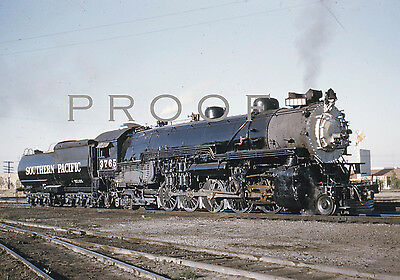 SOUTHERN PACIFIC - Fine 8x10 COLOR PRINT of F-5  2-10-2 3765, Fresno Yard, 5/55