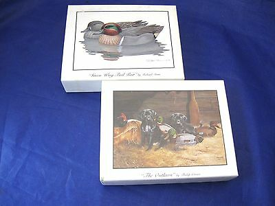 2 Boxes Blank Note Cards - Depicting Ducks and Dogs - Envelopes Included