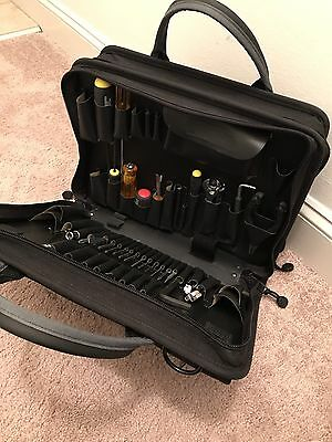 Canvas Tool Case Bag - Double Black Cordura  - Laptop, Tools