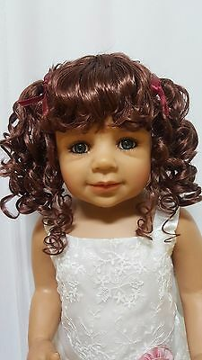"NWT Monique Abby Chestnut Brown Doll Wig 16-17"" fits Masterpiece Doll(WIG ONLY)"
