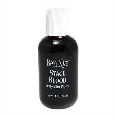 Ben Nye Stage Blood 2 fl oz Zesty Mint Flavor for Theatrical Halloween Use SB-4