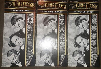 "Hasbro The THREE STOOGES MOE LARRY CURLY Collector's Edition 14"" Tall"