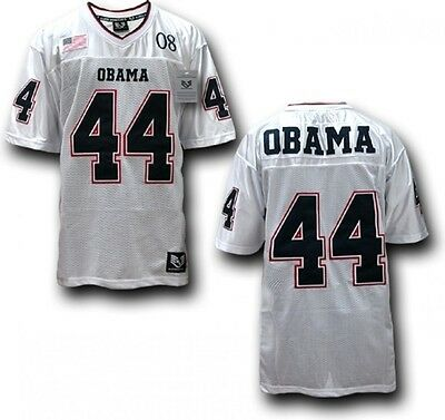 Obama, Barack Official Football Military Jersey Stitched, Sewn Letters,  Numbers