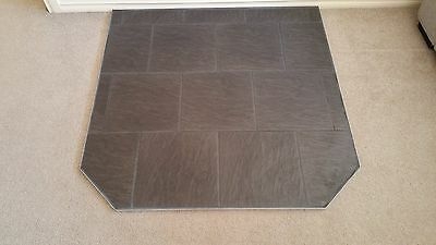 Wood Heater Hearth Victoria & N.S.W. Low profile  Silver Aluminium Trim