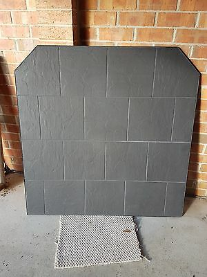 Wood Heater Hearth Victoria & N.S.W. Low profile Black Aluminium Trim