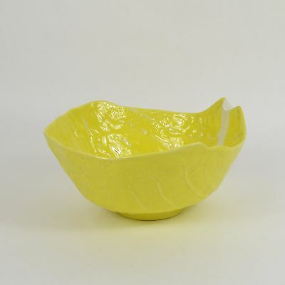 Vintage SECLA Portugal Yellow Cabbage Ceramic Large SERVING BOWL Majolica