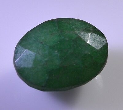Indian emerald faceted Green Oval gems 15x20 1 pc