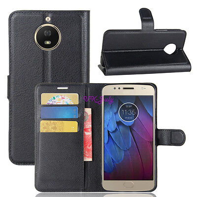 For Moto G5 / G5S Plus Magnetic Card Wallet Flip PU Leather TPU Case Stand Cover