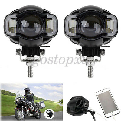 2x Motorcycle LED Auxiliary Spot Driving Fog Lamp Lights For Harley BMW R-1200G