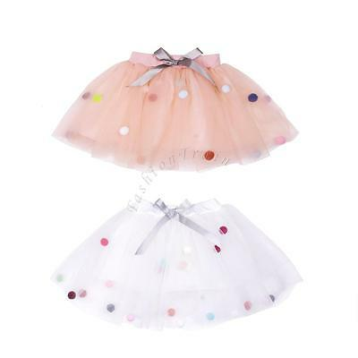 Baby Girl Kid Layers Tulle Tutu Skirts Ballet Leotard Dance Birthday Party Dress