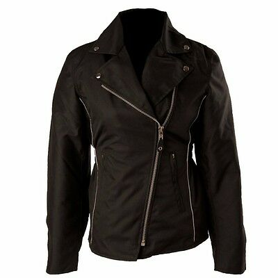LADIES CORDURA MOTORCYCLE JACKET WITH REMOVABLE ARMOUR Size 4 ARL-1