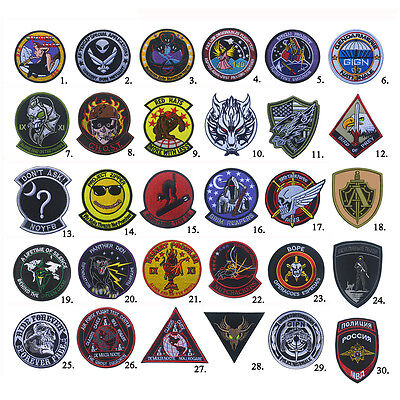 Black Ops Area 51 USAF Air Force Military Tactical Morale Hook Loop Patch Badge
