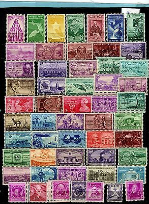 USA, small collection of mint stamps,mostly 3 cent  (429
