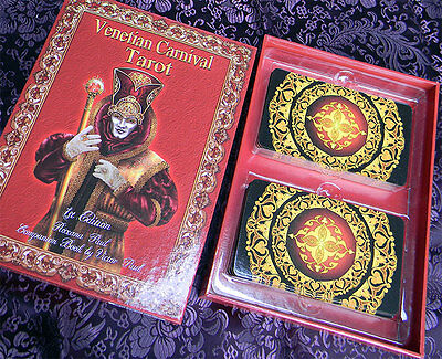 Venetian Carnival Tarot Card Deck, set, kit, book and cards,2017 Limited Edition