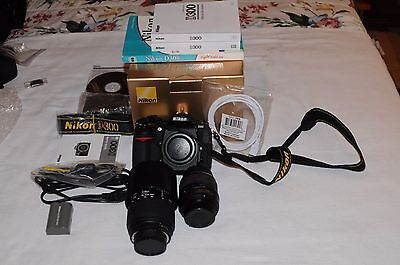 Nikon D300 12.3 MP Digital SLR Camera bundle with 2 lenses and more (very low 29