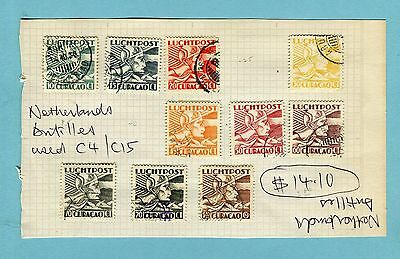 Netherlands Antilles, small collection of air mail stamps, .  (454