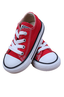 Kids Toddler Converse Chuck Taylor All Star Low 7J236 Red