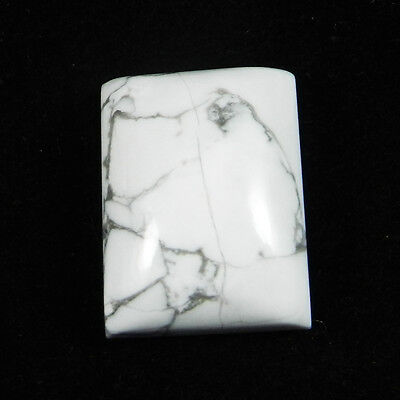 1 pcs Natural Howlite Gemstone 15x20mm Rectangle Cab 27.5 cts Stones ER6407
