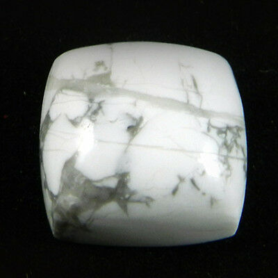 1 pcs Natural Howlite Gemstone 16mm Square Cab 22.8 cts Stones ER5914