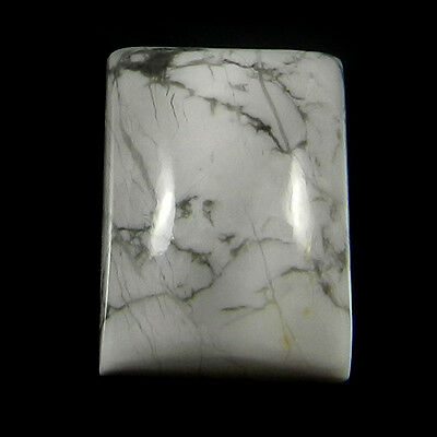 1 Pcs Natural Howlite Gemstone 13x18mm Rectangle Cab 18.9 Cts Stones ER4191