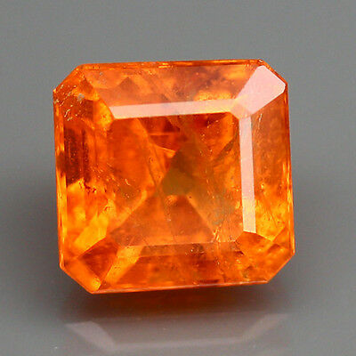 4.70ct.LOOSE GEM CUSHION CUT 100%NATURAL SPESSARTITE AAA++FANTA ORANGE BIG SIZE!