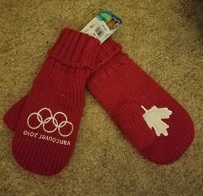 2010 VANCOUVER Winter Olympics Canada WINTER MITTENS Glove Size small