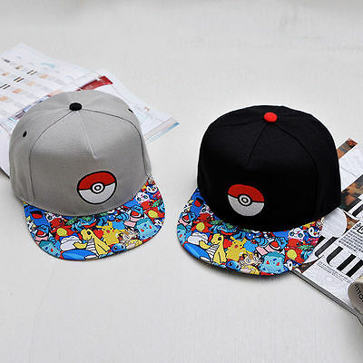 Pokemon Go Pikachu Baseball Dance Hip Hop Hat Cap Snapback Men Women Cotton Hat