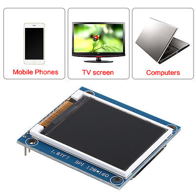 "1.8"" ST7735R SPI 128*160 TFT LCD Display Module w/PCB for Arduino 5V/3.3V Hot im"