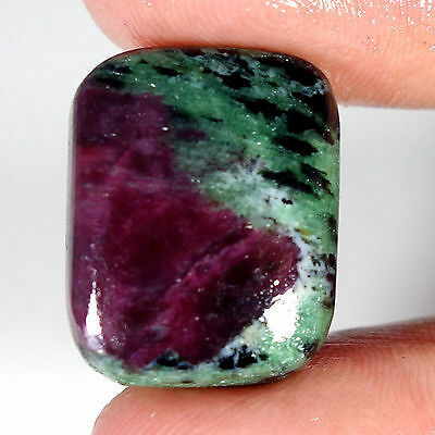 35.85Cts 100% NATURAL RED GREEN RUBY ZOISITE CUSHION AFRICAN LOOSE GEMSTONES