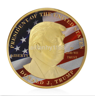 1pcs Donald Trump Make America Great President Commemorative Challenge Coin UK