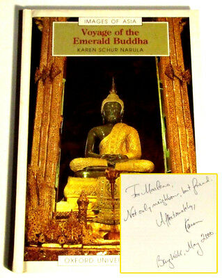Voyage of the Emerald Buddha Signed by Author Karen Narula Rare Hardcover 1994