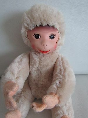 Vintage Schuco Jointed Monkey Toy - Working Squeaker 10""