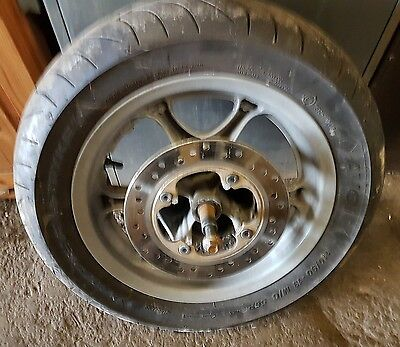 HONDA NES 125 - FRONT WHEEL - *BREAKING* Good tyre disc and spindle