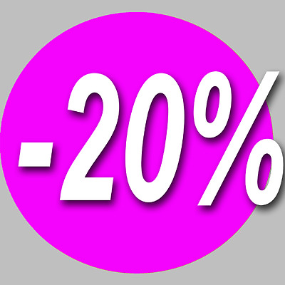 Stickers / autocollant Rond 20%