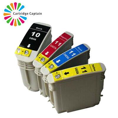 4 INK CARTRIDGE For HP 10 & 11XL Designjet 10PS 20PS 50PS 500 500PS 800