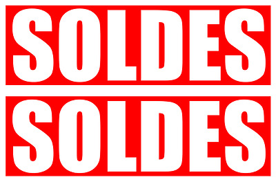 Stickers / autocollants solde IMPACT rouge