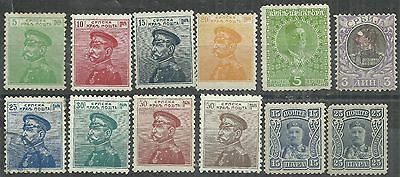 Serbia 12 early stamps MH/used as scan