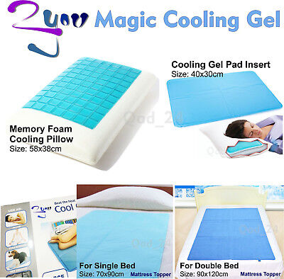 Magic Cooling Gel Blue Cool Pad Mat Orthopedic Mattress Topper Small Large Pet