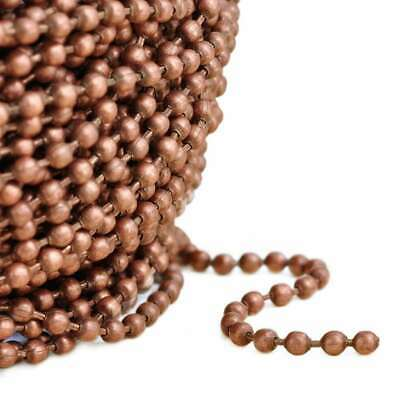 4m Unfinished Bulk Chains Necklace DIY Antique Copper Ball Chain 2.4x2.4mm CA