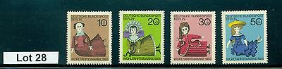 Lot  28..Germany..4 MNH 20th Century Dolls on Stamps