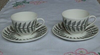 Pair of Gustavsberg MAXIM Cups and Saucers Bibi Breger Circa 1960