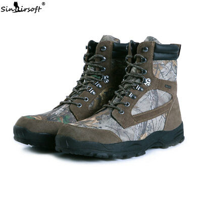 Outdoor Trekking Hiking Shoes Leaf Camo Waterproof Army Camouflage Hunting Boots